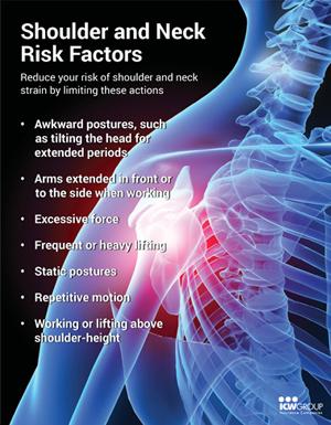Shoulder and Neck Risk Factors Poster.