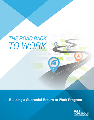 Sample return to work policy from the Building a Successful Return to Work Program webinar.