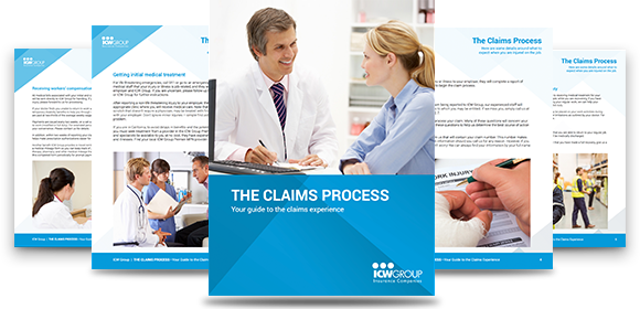 Pages of the claims process guide