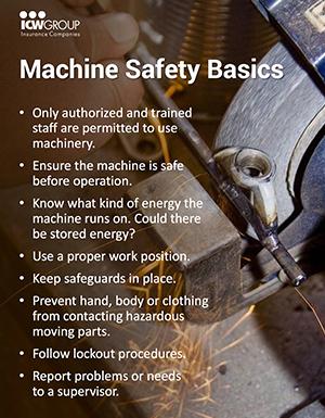 Machine Safety Basics Poster