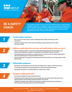 Tips on being a role model for safety culture in your workplace