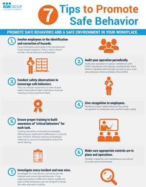 Promote safe behaviors and a safe environment in your workplace.