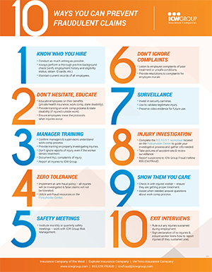 10 ways you can prevent fraudulent work comp claims.