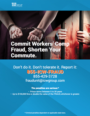 Anti-fraud workplace poster