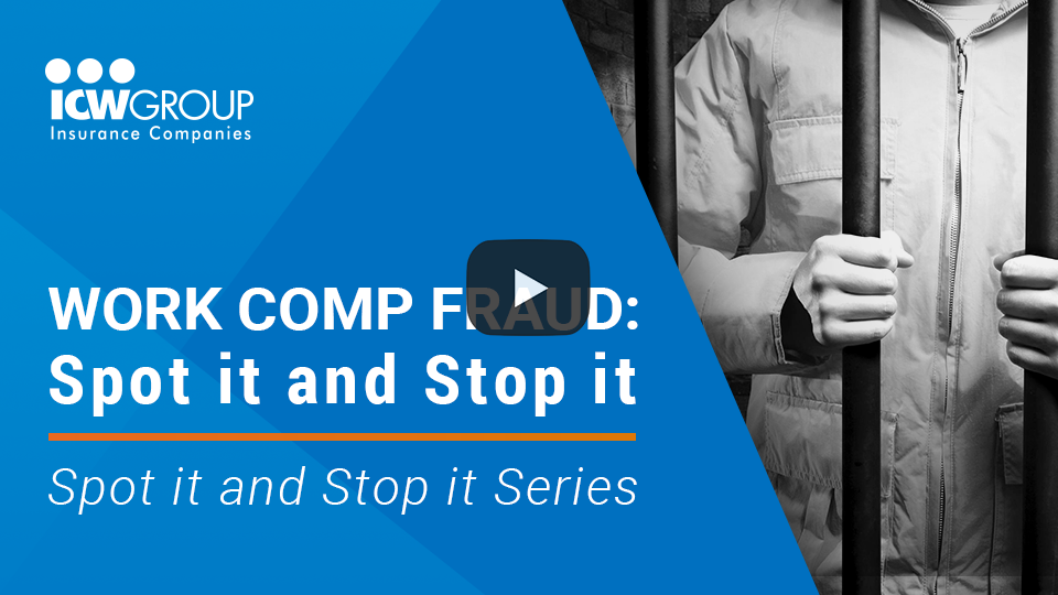 Webinar: Work Comp Fraud - Spot it and Stop it