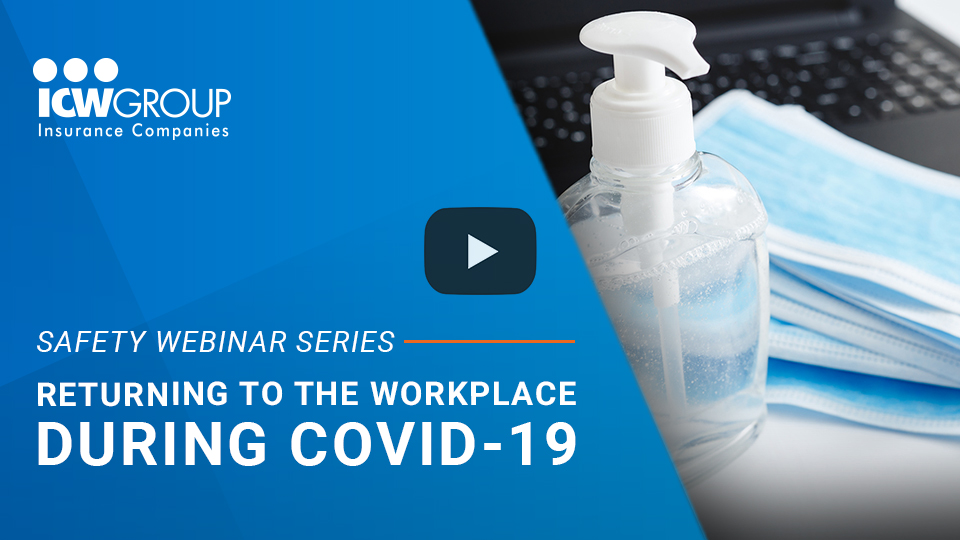 Webinar: Returning to the workplace during COVID-19