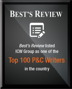 ICW Group listed as one of the top 100 P&C Writers by Best's Review