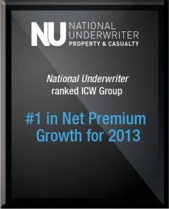 National Underwriter ranked ICW Group #1 in Net Premium Growth for 2013