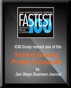 ICW Group named one of the Fastest Growing Private Companies by San Diego Business Journal