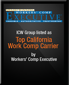 ICW Group listed as Top California Work Comp carrier by Work Comp Executive