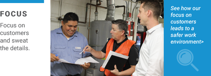 An ICW Group employee advising a customer